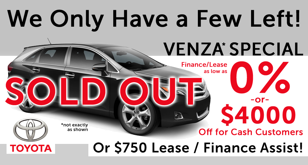 Venza Special – update: SORRY SOLD OUT!