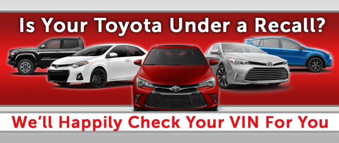 Your Toyota May Be Under a Recall