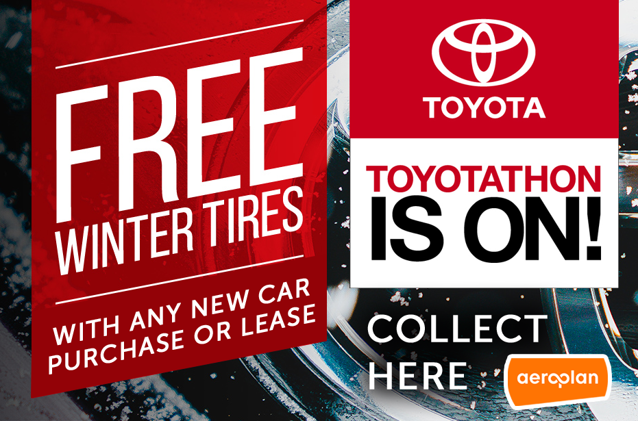 Toyotathon is on – FREE Winter Tires!