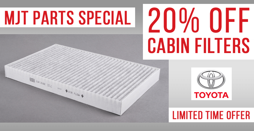 20% off Air Cabin Filters!