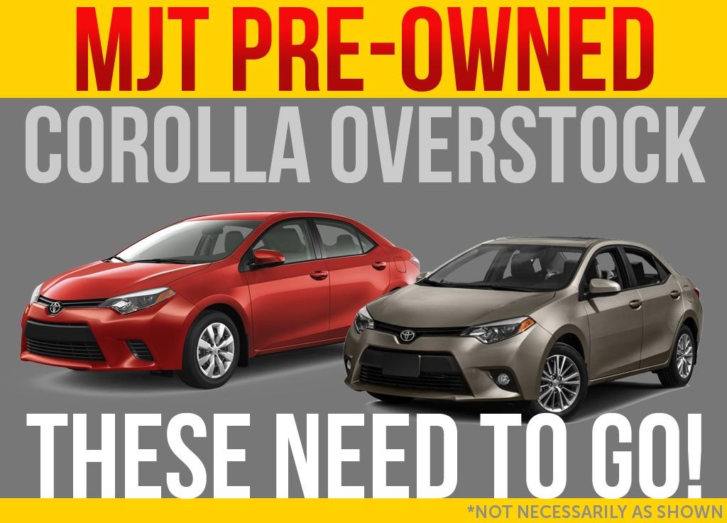 Corolla Overstock! $500 Bonus!