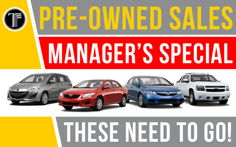 Pre-Owned Sales Manager Specials