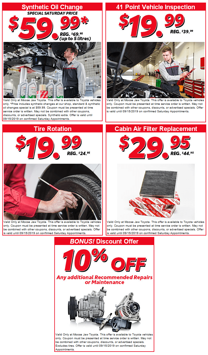 Check out our latest Parts & Service Specials