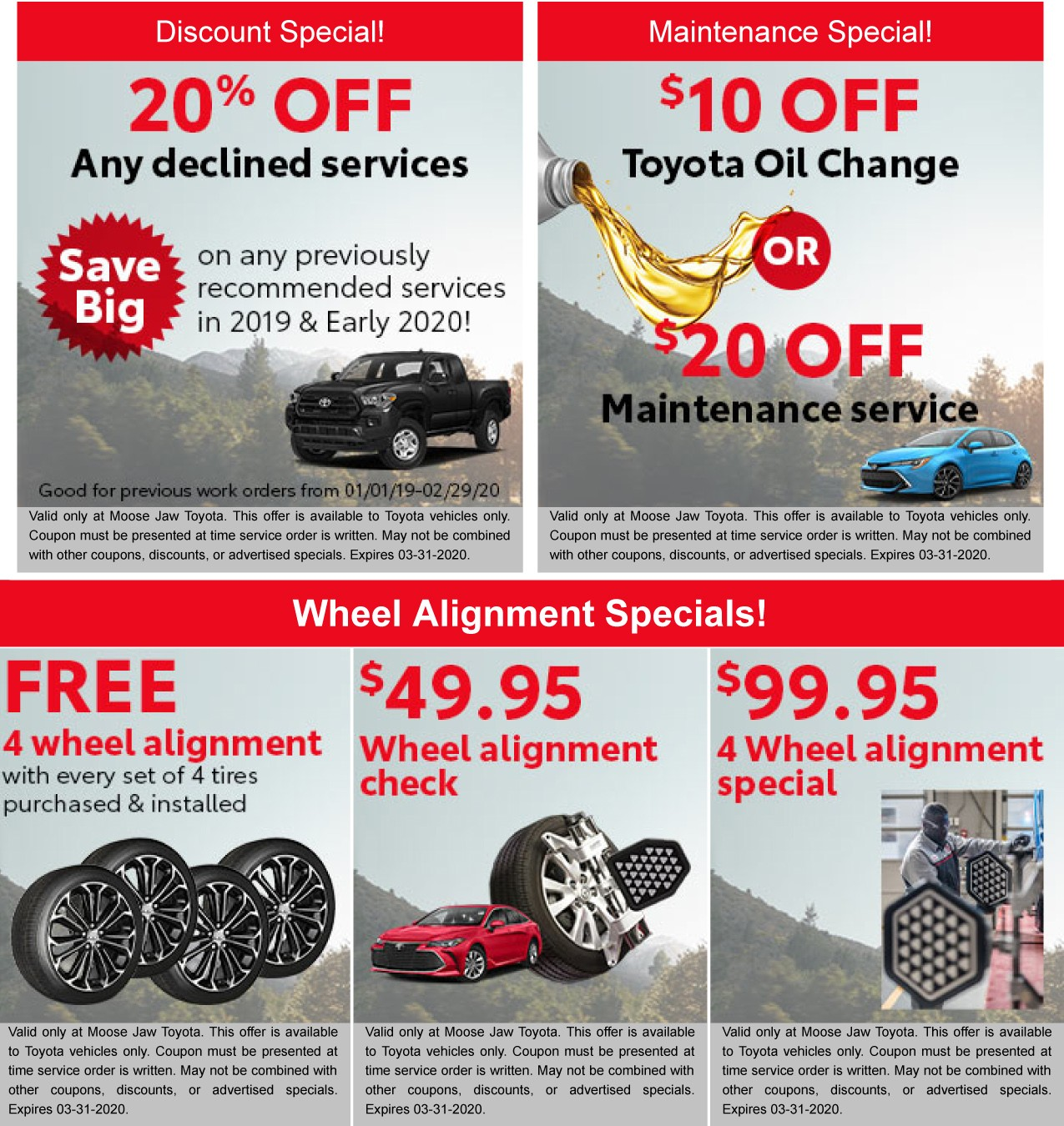 Check Out Our March Specials