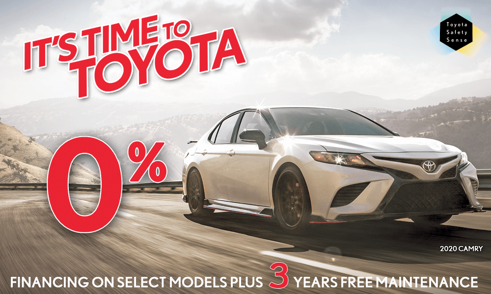 0% Financing & 3 Years Free Maintenance on Select '20 Camrys