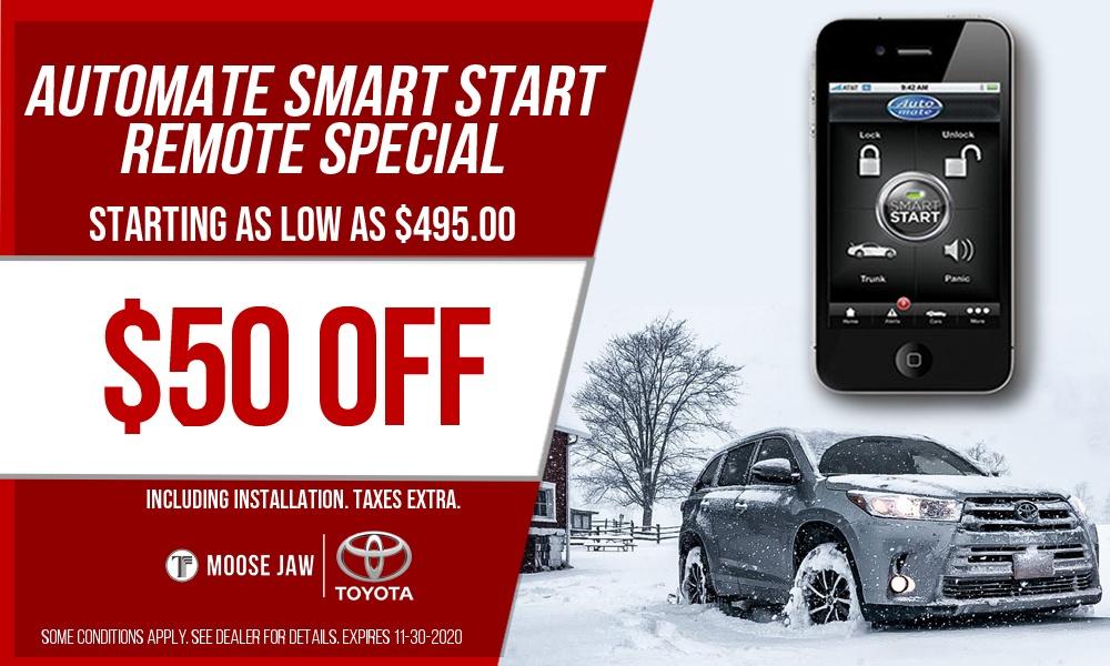 $50 Off Automate Smart Start Remote